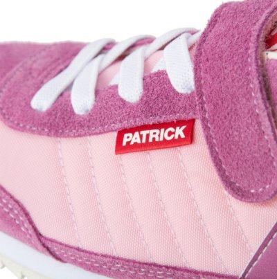 画像1: PATRICK (パトリック )  ENFANT MARATHON-V Jr.(マラソン・ベルクロ ジュニア) 【PNK】【キッズ/ベビー】【19-22cm】