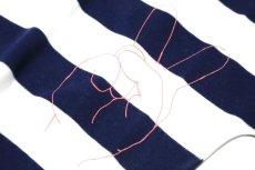 画像4:  【SALE40%OFF!!】 Geewhiz(ジーウィズ)ピース/ボーダー半袖Tシャツ【navy×white】 (4)