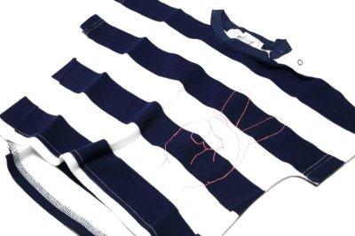 画像2:  【SALE40%OFF!!】 Geewhiz(ジーウィズ)ピース/ボーダー半袖Tシャツ【navy×white】