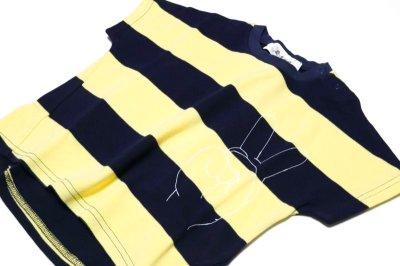 画像2:  【SALE40%OFF!!】 Geewhiz(ジーウィズ)ピース/ボーダー半袖Tシャツ【navy×yellow】