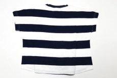 画像5:  【SALE40%OFF!!】 Geewhiz(ジーウィズ)ピース/ボーダー半袖Tシャツ【navy×white】 (5)