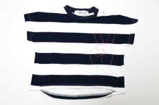 画像1:  【SALE40%OFF!!】 Geewhiz(ジーウィズ)ピース/ボーダー半袖Tシャツ【navy×white】 (1)