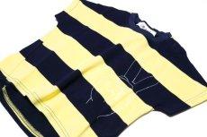 画像4:  【SALE40%OFF!!】 Geewhiz(ジーウィズ)ピース/ボーダー半袖Tシャツ【navy×yellow】 (4)