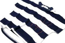 画像3:  【SALE40%OFF!!】 Geewhiz(ジーウィズ)ピース/ボーダー半袖Tシャツ【navy×white】 (3)