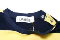 画像3:  【SALE40%OFF!!】 Geewhiz(ジーウィズ)ピース/ボーダー半袖Tシャツ【navy×yellow】 (3)