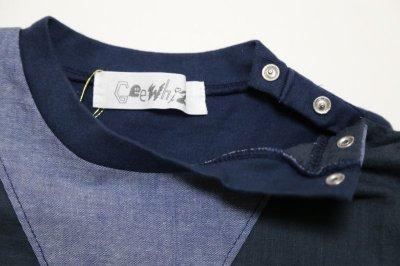 画像1:  【SALE40%OFF!!】 Geewhiz(ジーウィズ)キラキラのお家/ゆるポケットTシャツ【navy】