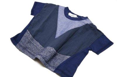 画像3:  【SALE40%OFF!!】 Geewhiz(ジーウィズ)キラキラのお家/ゆるポケットTシャツ【navy】