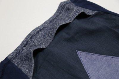 画像2:  【SALE40%OFF!!】 Geewhiz(ジーウィズ)キラキラのお家/ゆるポケットTシャツ【navy】