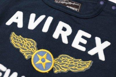 画像2:  【SALE40%OFF!!】 AVIREX (アヴィレックス) フェルト刺繍Tシャツ【コン】【80-140cm】