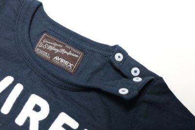 画像1:  【SALE40%OFF!!】 AVIREX (アヴィレックス) フェルト刺繍Tシャツ【コン】【80-140cm】
