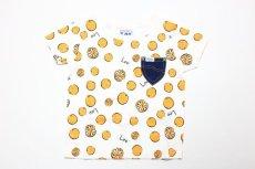 画像1:  【SALE30%OFF!!】 Lee(リー)×StompStamp(ストンプスタンプ) オレンジ柄半袖Tシャツ【オレンジ】【キッズ/ベビー】【80-140cm】 (1)