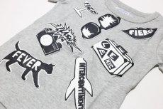 画像2:  【SALE30%OFF!!】 Lee(リー)×StompStamp(ストンプスタンプ) モノクロモチーフ半袖Tシャツ【グレー】【キッズ/ベビー】【80-140cm】 (2)