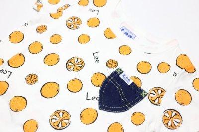 画像1:  【SALE30%OFF!!】 Lee(リー)×StompStamp(ストンプスタンプ) オレンジ柄半袖Tシャツ【オレンジ】【キッズ/ベビー】【80-140cm】
