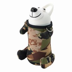 画像1: thermomug(サーモマグ) ANIMAL BOTTLE TEDDYBEAR CAMO【WHT】 (1)