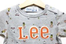 画像2: 【SALE20%OFF】Lee(リー)×StompStamp(ストンプスタンプ)×PEANUTS(ピーナッツ) スヌーピー半袖Tシャツ【グレー】【キッズ/ベビー】【80-140cm】 (2)