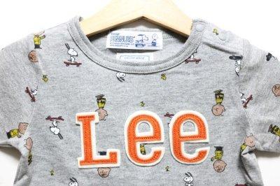 画像1: 【SALE20%OFF】Lee(リー)×StompStamp(ストンプスタンプ)×PEANUTS(ピーナッツ) スヌーピー半袖Tシャツ【グレー】【キッズ/ベビー】【80-140cm】