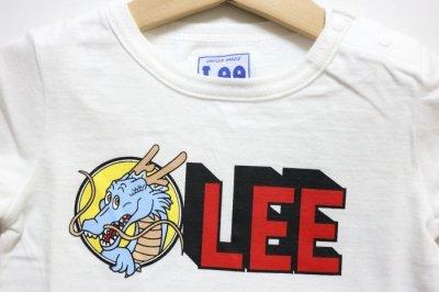 画像1: 【SALE30%OFF】Lee(リー)×StompStamp(ストンプスタンプ)×ドラゴンボール LeeロゴTシャツ【ホワイト】【ベビー/キッズ】【80-120cm】