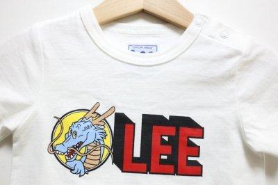 画像1: Lee(リー)×ドラゴンボール Leeロゴロンパース【ホワイト】【ベビー】【70-80cm】