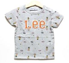 画像1: 【SALE20%OFF】Lee(リー)×StompStamp(ストンプスタンプ)×PEANUTS(ピーナッツ) スヌーピー半袖Tシャツ【グレー】【キッズ/ベビー】【80-140cm】 (1)