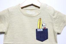 画像3: Lee(リー)×StompStamp(ストンプスタンプ)×PEANUTS(ピーナッツ) スヌーピーサーフポケット半袖Tシャツ【ベージュ】【キッズ/ベビー】【80-140cm】 (3)