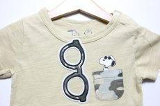 画像3: PEANUTS(ピーナッツ)×StompStamp(ストンプスタンプ) スヌーピーポケット付き半袖Tシャツ【ベージュ】【キッズ/ベビー】【80-140cm】 (3)