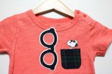 画像3: PEANUTS(ピーナッツ)×StompStamp(ストンプスタンプ) スヌーピーポケット付き半袖Tシャツ【ピンク】【キッズ/ベビー】【80-140cm】 (3)