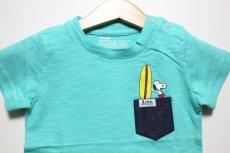 画像3: Lee(リー)×StompStamp(ストンプスタンプ)×PEANUTS(ピーナッツ) スヌーピーサーフポケット半袖Tシャツ【グリーン】【キッズ/ベビー】【80-140cm】 (3)