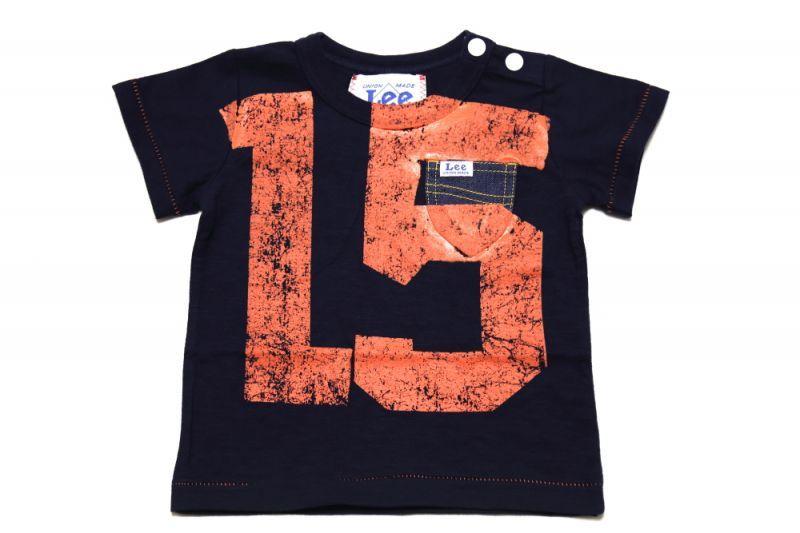 画像1:  【SALE40%OFF!!】 Lee×stompstampナンバープリント半袖Tシャツ【キッズ】【ベビー】【子供】【コン】 (1)