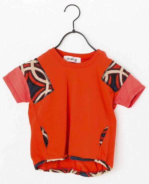 画像1:  【SALE40%OFF!!】 Geewhiz(ジーウィズ) アフリカンピクニック/半袖Tシャツ【red】【80-140cm】 (1)