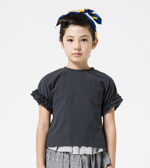 画像1:  【SALE40%OFF!!】 HIGHKING(ハイキング) holly short sleeve【black】【90-120cm 】 (1)