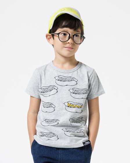 画像1:  【SALE20%OFF!!】 HIGHKING(ハイキング) eat in short sleeve【gray】【90-120cm 】 (1)