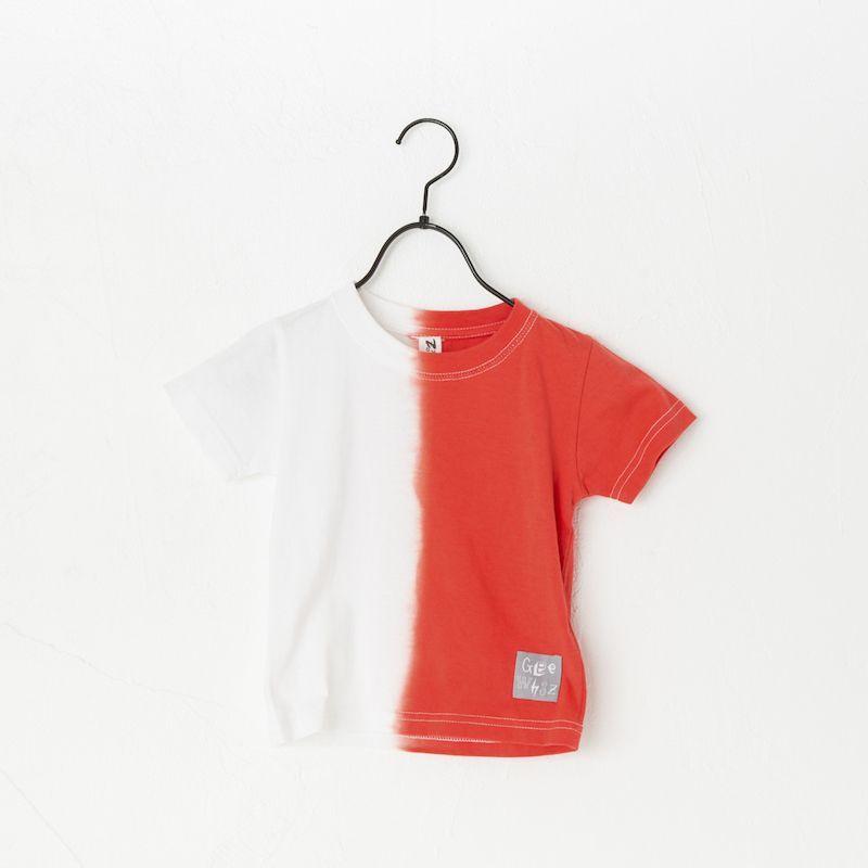 画像1:  【SALE40%OFF!!】 Geewhiz(ジーウィズ) 赤と黒/半袖Tシャツ【red】【80-140cm】 (1)