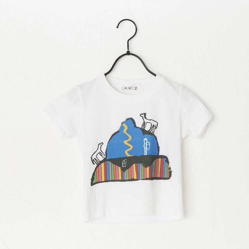 画像1:  【SALE40%OFF!!】 Geewhiz(ジーウィズ) みんなの山/半袖Tシャツ【white】【80-140cm】 (1)