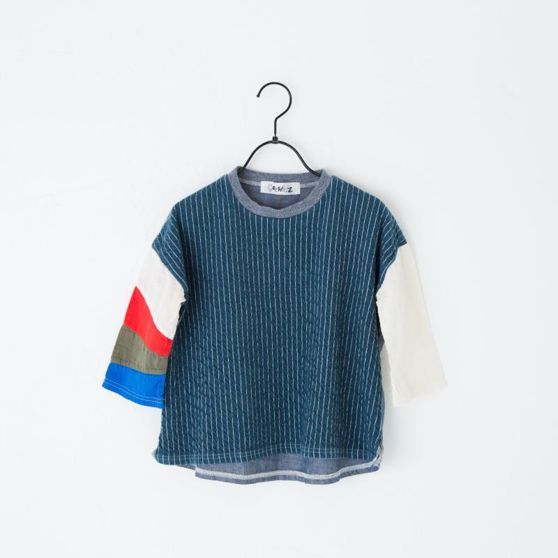 画像1: 【SALE40%OFF!!】Geewhiz(ジーウィズ) 雨の中の虹/長袖Tシャツ【navy】【90-140cm】 (1)