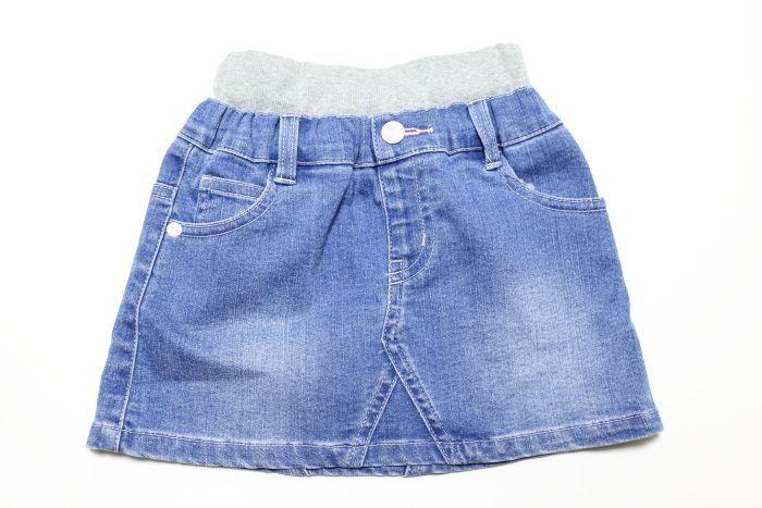 画像1:  【SALE20%OFF!!】 Lee(リー)×StompStamp(ストンプスタンプ) デニムショートスカート【ブルー】【キッズ/ベビー】【80-140cm】 (1)