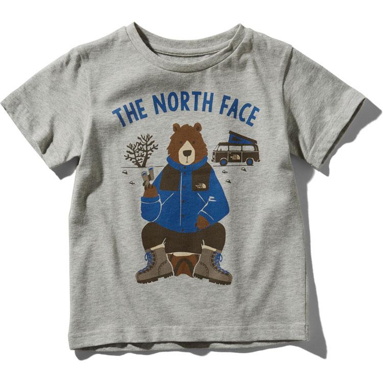 画像1:  【SALE20%OFF!!】 THE NORTH FACE(ザ・ノースフェイス) S/S ANIMAL TEE (ショートスリーブアニマルティー) 【Z/ミックスグレー】【キッズ/ベビー】【80-140cm】 (1)