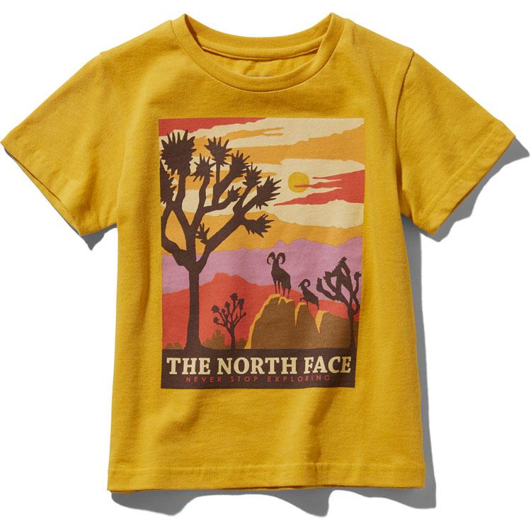 画像1:  【SALE20%OFF!!】 THE NORTH FACE(ザ・ノースフェイス) S/S GRAPHIC  TEE (ショートスリーブグラフィックティー) 【LY/レオパードイエロー】【キッズ/ベビー】【80-140cm】 (1)