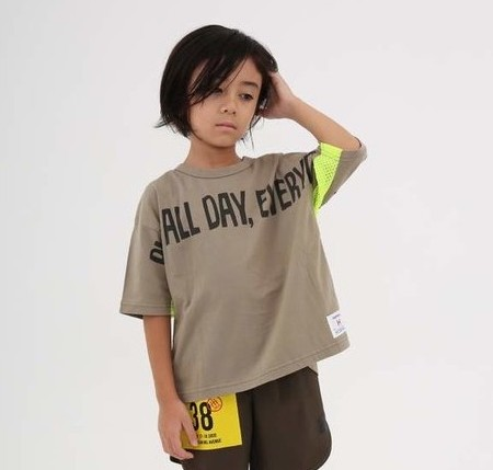 画像1:  【SALE20%OFF!!】 HIGHKING(ハイキング) play all shortsleeve【beige】【90-120cm 】 (1)