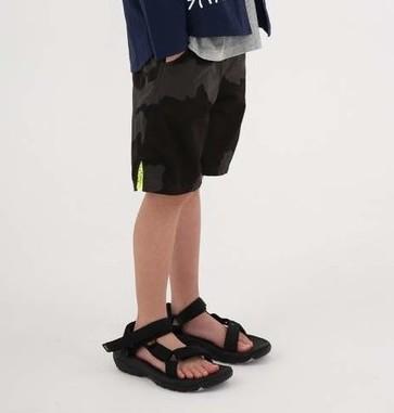 画像1:  【SALE20%OFF!!】 HIGHKING(ハイキング) trek shorts【black】【130-140cm 】 (1)