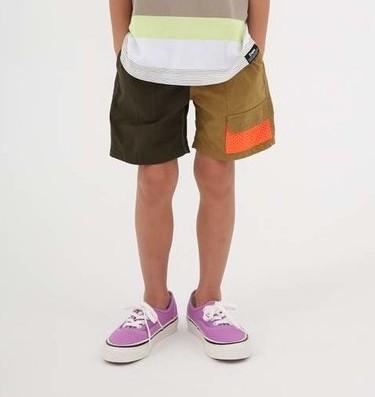 画像1:  【SALE20%OFF!!】 HIGHKING(ハイキング) safari shorts【khaki】【130-140cm 】 (1)