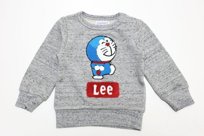 画像1: Lee(リー)×ドラえもん トレーナー【グレー】【キッズ/ベビー】【80-140cm】 (1)