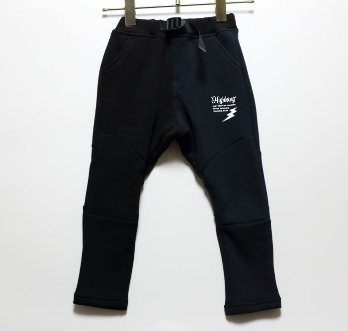 画像1: HIGHKING(ハイキング) gym pants【black】【90-120cm 】 (1)