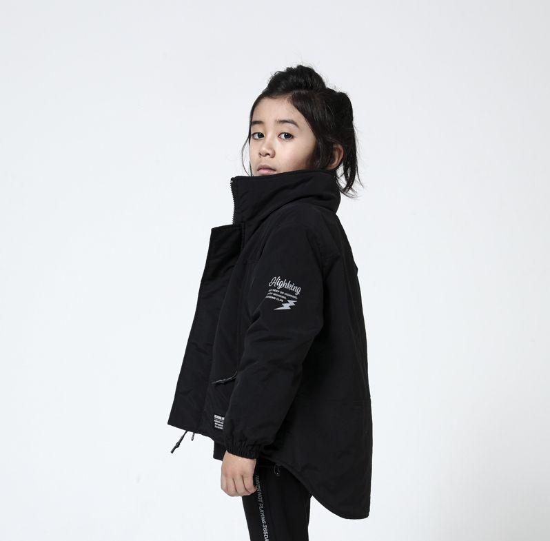 画像1: HIGHKING(ハイキング) tactical jacket【black】【100-150cm 】 (1)