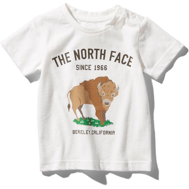 画像1: THE NORTH FACE(ザ・ノースフェイス) S/S Graphic Animal Tee (ショートスリーブグラフィックアニマルティー) 【W/ホワイト】【ベビー/キッズ】【80-150cm】 (1)