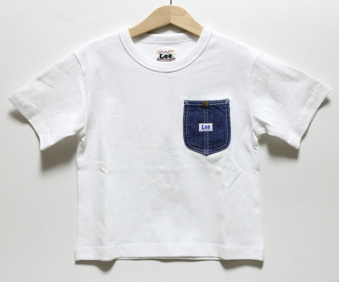 画像1: 【SALE20%OFF】Lee(リー) DENIM POCKET TEE【WHITE】【ベビー/キッズ】【80-150cm】 (1)