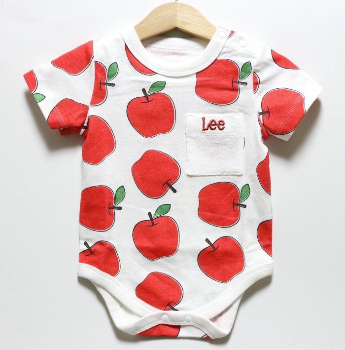 画像1: Lee(リー) PRINT ROMPERS APPLE【WHITE】【ベビー】【70-80cm】 (1)
