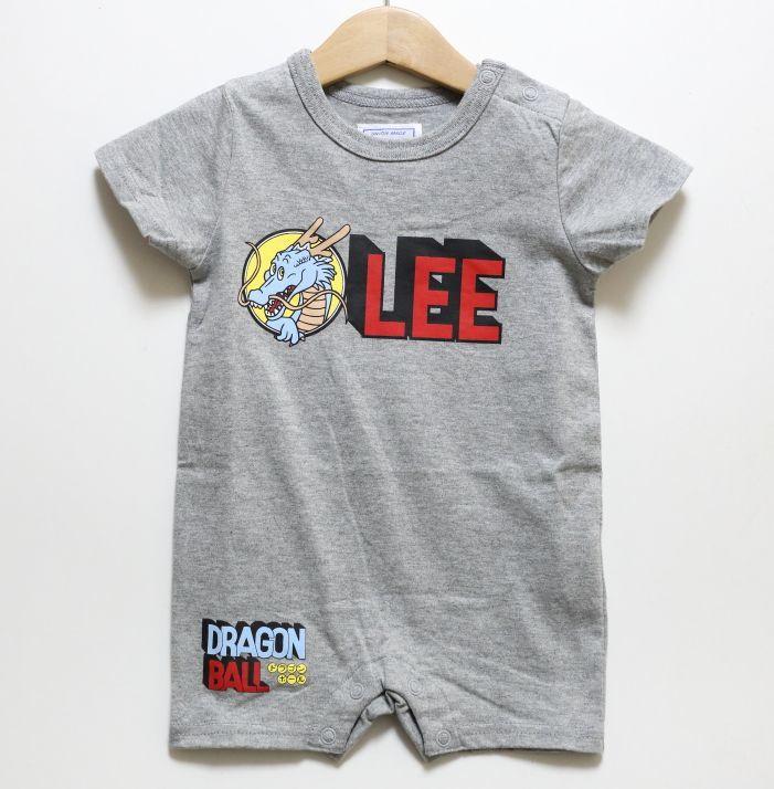 画像1: Lee(リー)×ドラゴンボール Leeロゴロンパース【グレー】【ベビー】【70-80cm】 (1)
