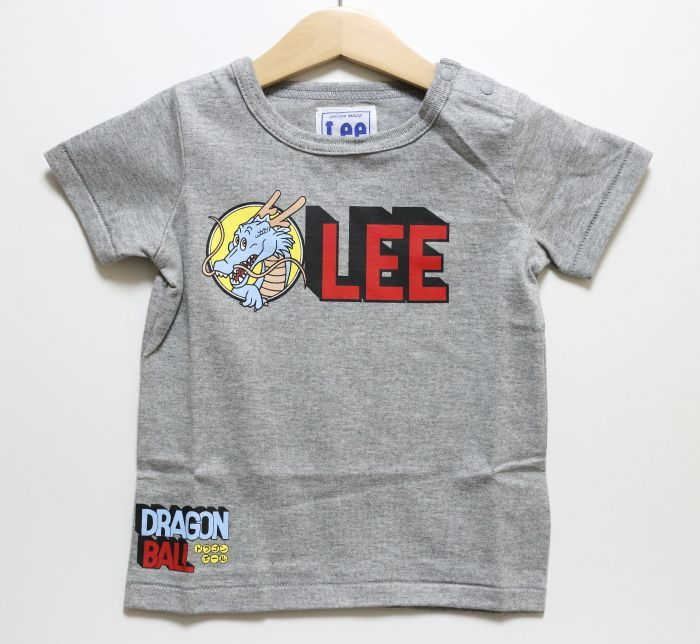 画像1: Lee(リー)×ドラゴンボール LeeロゴTシャツ【グレー】【ベビー/キッズ】【80-120cm】 (1)