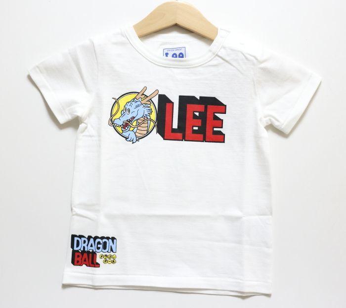 画像1: 【SALE30%OFF】Lee(リー)×StompStamp(ストンプスタンプ)×ドラゴンボール LeeロゴTシャツ【ホワイト】【ベビー/キッズ】【80-120cm】 (1)