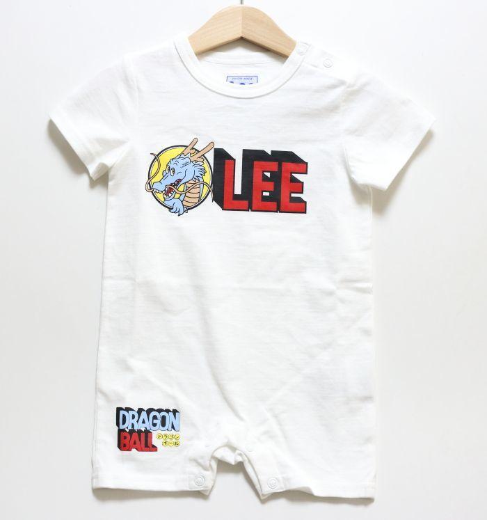 画像1: Lee(リー)×ドラゴンボール Leeロゴロンパース【ホワイト】【ベビー】【70-80cm】 (1)